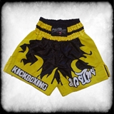 Muay Thai hlačice Black & Yellow