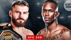 UFC 259: Israel Adesanya vs. Jan Blachowicz / SLUŽBENI FIGHT CARD