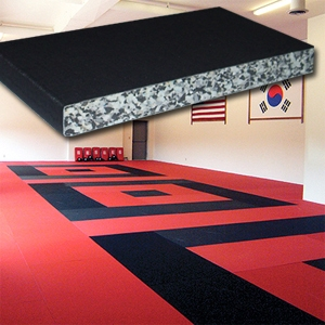 Combo striking and grappling mat 200x100x2,5 cm